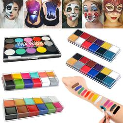 12/15 Colors Face Body Paint Oil Painting Art Make Up Tool H