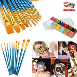 12 Color Face Body Paint Oil Painting Art Make Up Tool Profe