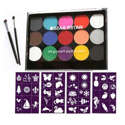 15 Colors Face & Body Painting Oil Paint with Template Cospl