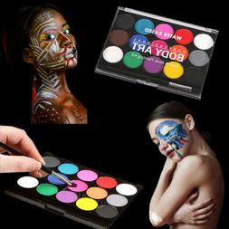 15 Colors Face Body Paint Oil Painting Art Make Up Tool Set
