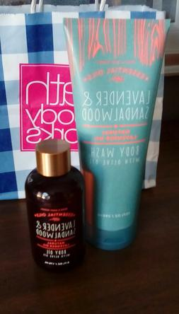 2 ~ Bath and Body Works LAVENDER & SANDALWOOD Olive Body Oil