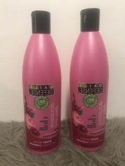 2X Daily Defense Fresh Rose Essence Jojoba Oil Body Wash No