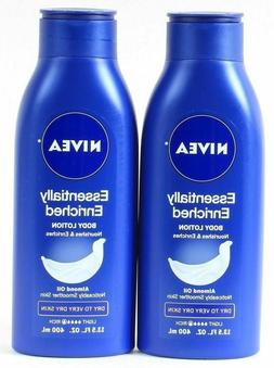 2X Nivea Essentially Enriched Body Lotion 2x Almond Oil Dry