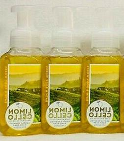3 Bath Body Works LIMONCELLO Gentle Foaming Hand Soap With O