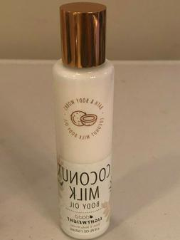 BATH & BODY WORKS COCONUT MILK BODY OIL LIGHTWEIGHT 4.9 OZ L