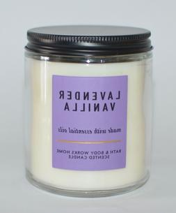 BATH & BODY WORKS LAVENDER VANILLA SCENTED CANDLE SINGLE WIC