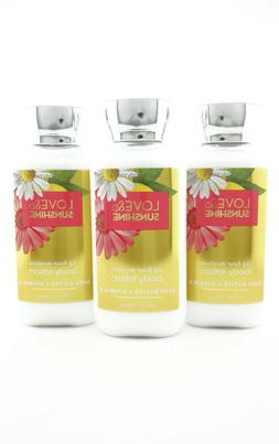 Bath Body Works 3 Love & Sunshine Body Lotion 8oz Hand Cream
