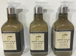 2 BATH & BODY WORKS BLACK PEPPER & LEMON NOURISHING HAND SOA