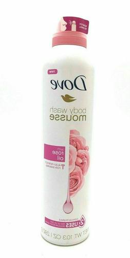 Dove Body Wash Mousse with Rose Oil 10.3 Oz Bottle Perfect F
