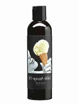 Earthly Body Edible Massage Oil - French Vanilla 8oz Sexual