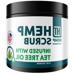 Hemp Oil Scrub Infused With Tea Tree Oil Organic&Natural For