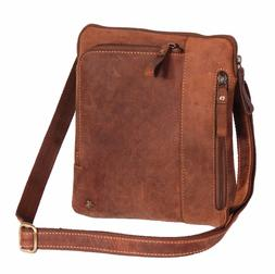 iPad Tablet PC Real Leather Shoulder Cross Body Organiser Ca