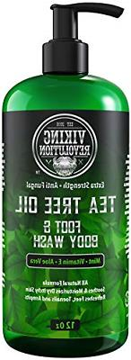 Antifungal Tea Tree Oil Body Wash Soap for Men - Helps Athle