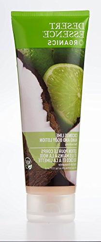 Desert Essence Coconut Lime Hand and Body Lotion, 8 Ounce --