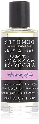 Demeter Massage and Body Oil for Unisex, Ba Powder, 2 Ounce