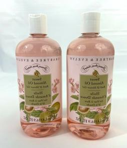 New Crabtree Evelyn Sweet Almond Oil Body Wash 2 Two Bottles