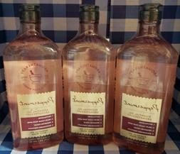 PEPPERMINT ESSENTIAL OIL AROMATHERAPY LOT of 3 SHOWER GEL WA