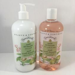CRABTREE & EVELYN SWEET ALMOND OIL BATH SHOWER GEL & BODY LO