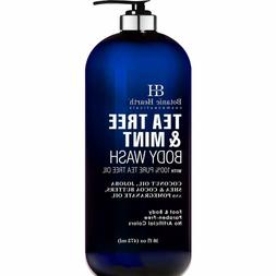 Tea Tree Oil Body Wash with Mint by BOTANIC HEARTH - Paraben